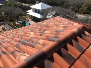 photo of red tile roof
