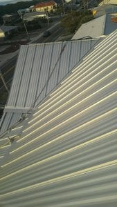 photo of metal roof slope