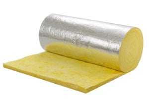 photo of a roll of insulation