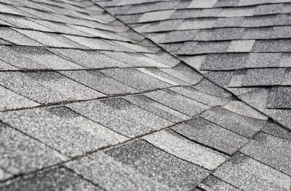 photo of grey roofing shingles
