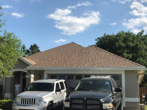 new roof installed by Patriot Roofing