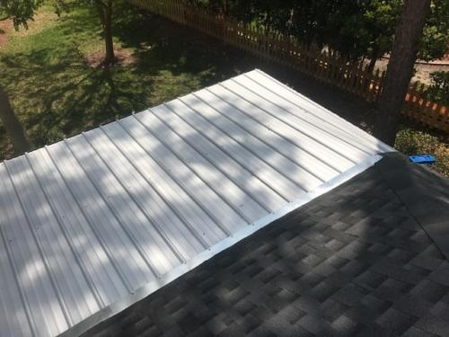 flat roof installed by Patriot Roofing