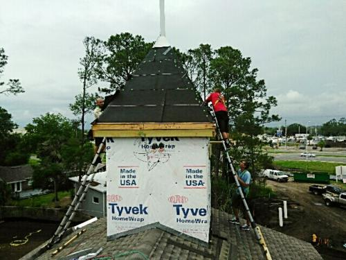 work on church roof by Patriot Roofing