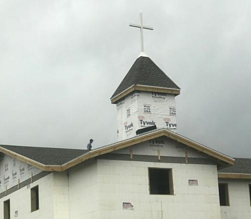 church roof replaced by Patriot Roofing