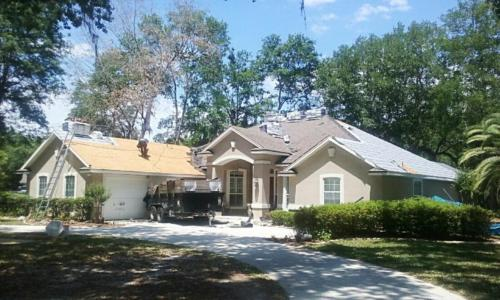 beautiful roof complete by Patriot Roofing